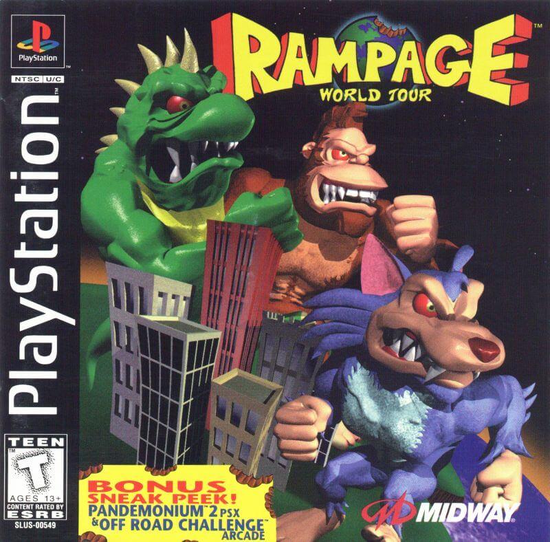 tải Rampage - World Tour giả lập ps 1 trên pc
